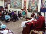 Sesi tanya jawab dengan Sangter Rinpoche dan para mahasiswa