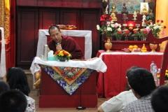 Pemberkahan Relik Tenga Rinpoche di Triyana DC
