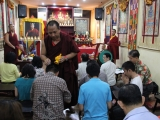 Sesi pemberkatan oleh Sangter Rinpoche