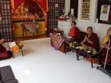 Sesi puja untuk pemberkahan bejana pusaka selama 3 hari dipimpin oleh Sangter Rinpoche